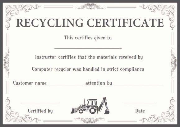 Certificate Of Destruction Template Inspirational 8 Best Certificate Of Destruction Images On Pinterest