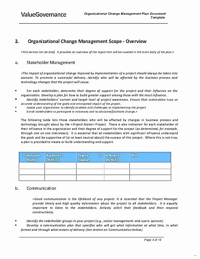 Change Management Communication Plan Template Awesome organizational Change Munication Plan Template Free
