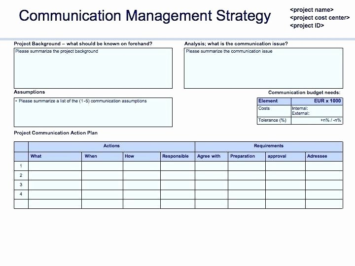 munication management plan template simple examples free templates lab doc