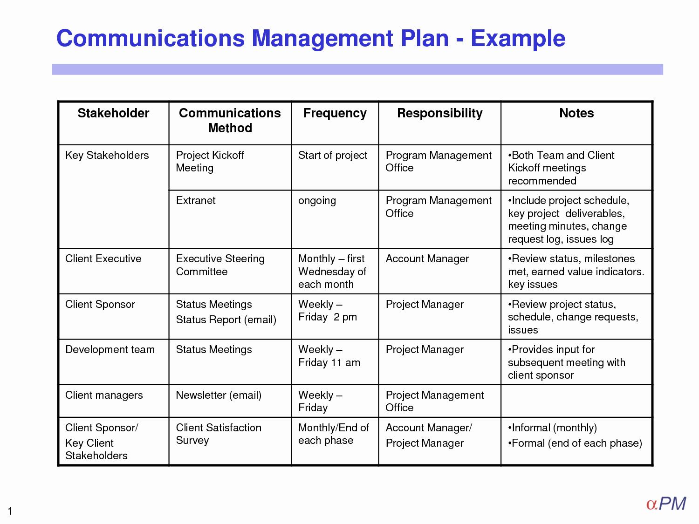 Change Management Communication Plan Template Elegant Munication Plan Template