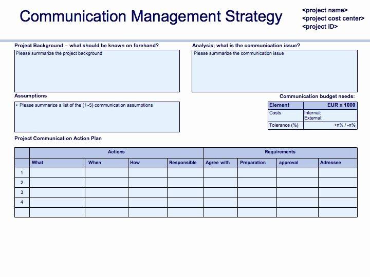Change Management Communication Plan Template Fresh Prince2 In Practice Munication Plan Update