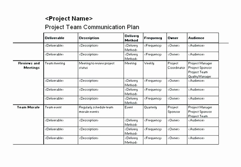 Change Management Communication Plan Template New Change Management Training Munication Strategy Template