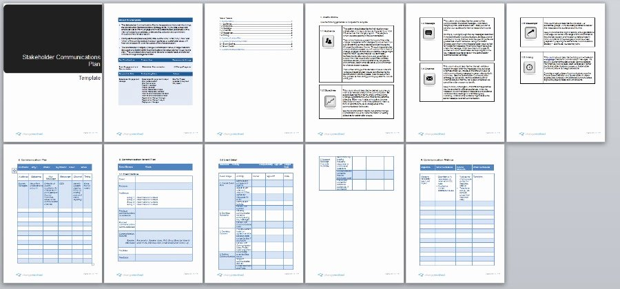 Change Management Communication Plan Template New Stakeholder Munication Plan Change Management Methodology
