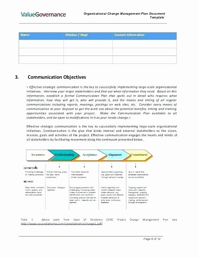 Change Management Communication Plan Template Unique Munications Strategy Planning Calendar Template