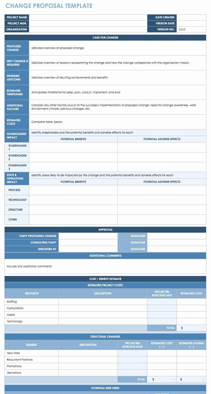 Change Management Plan Template Fresh Free Change Management Templates
