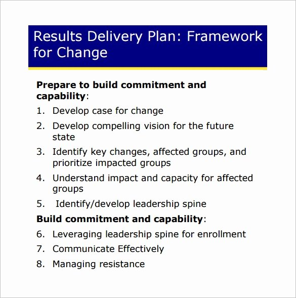 Change Management Plan Template New 11 Change Management Plan Templates Free Sample