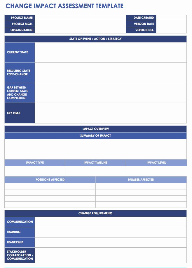 Change Management Template Excel Unique Free Change Management Templates