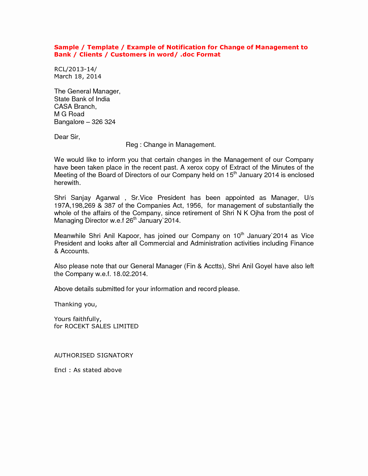 Change Of Management Letter Template Best Of 10 Best Of Notification Letters to Clients