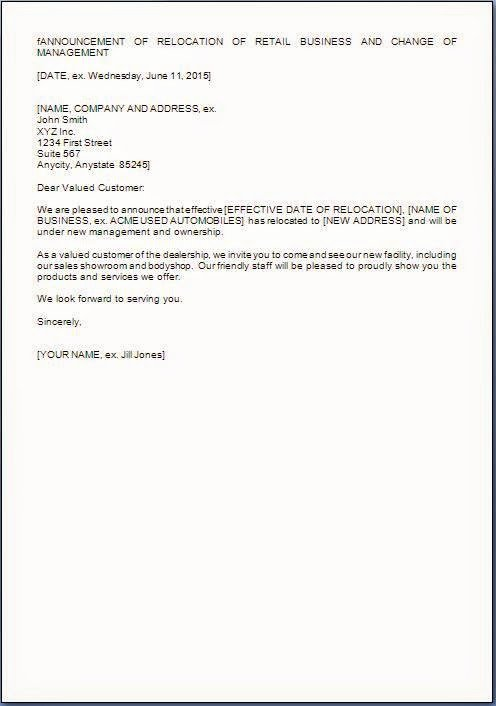 Change Of Management Letter Template Fresh Management Change Letter format to Customers