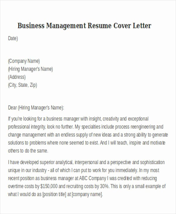 Change Of Management Letter Template Luxury 20 Modern Business Resume Templates Pdf Doc