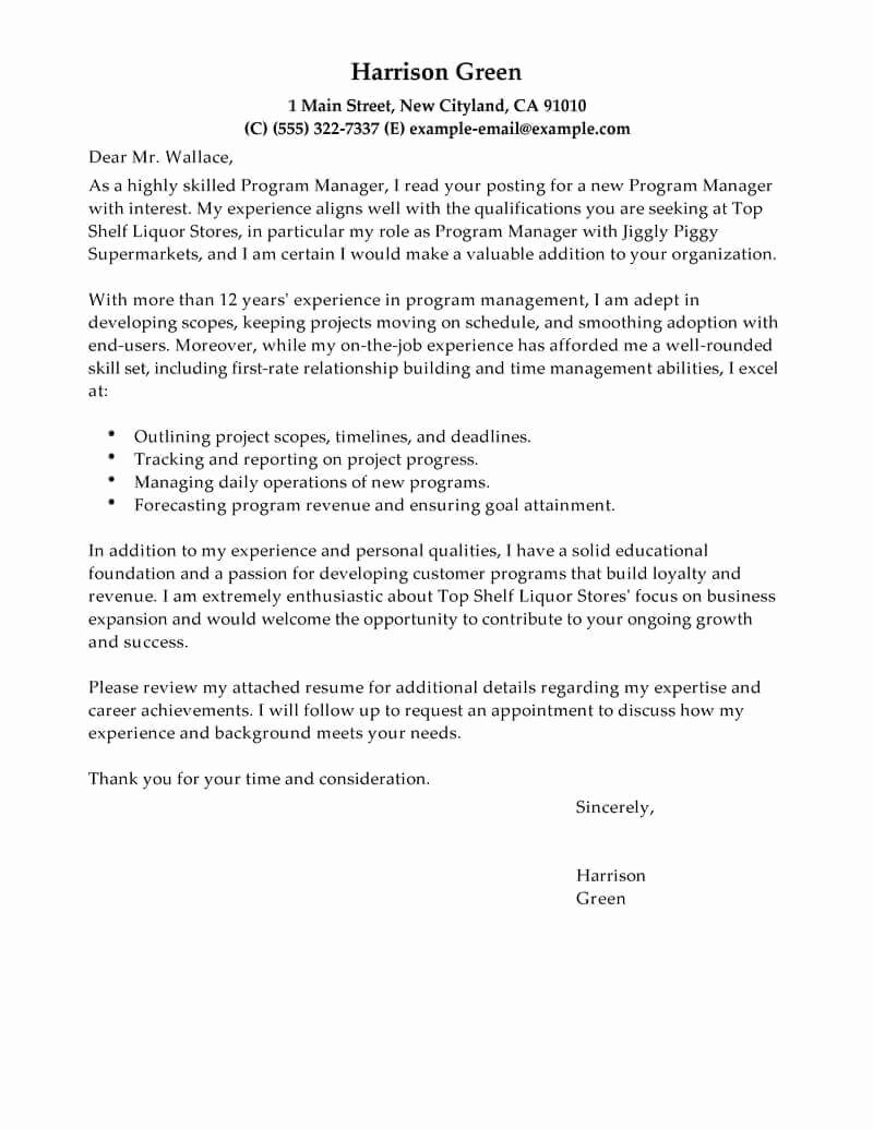 Change Of Management Letter Template Luxury Best Management Cover Letter Examples