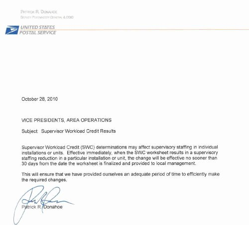 Change Of Management Letter Template New Usps Changes Instructions Excessing Supervisors Based