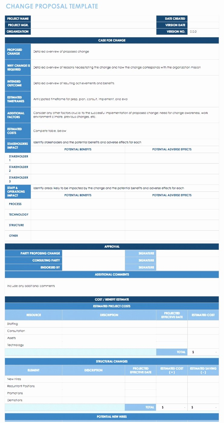 Change Of Management Letter Template Unique 7 Process Change Proposal Template Iayty