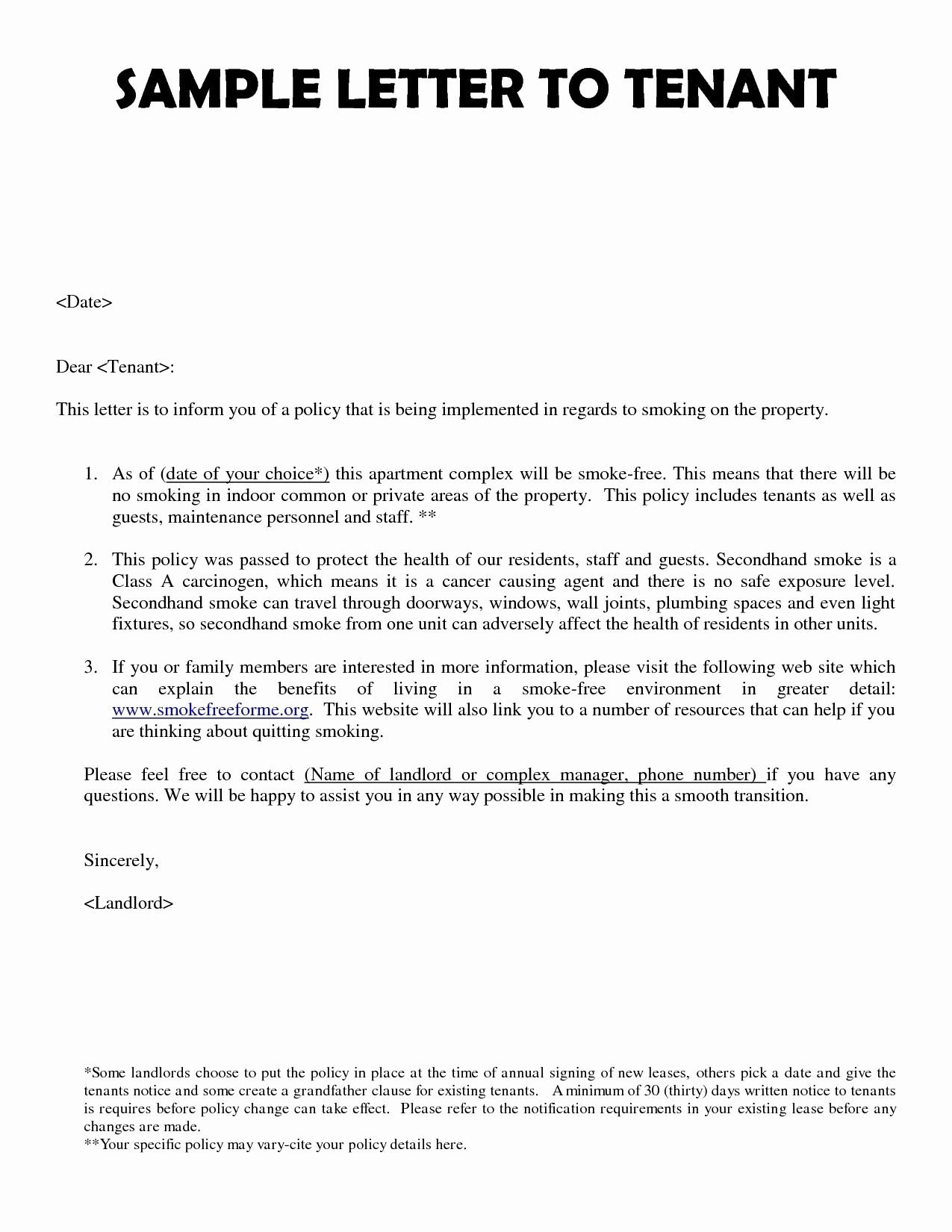 Change Of Management Letter Template Unique New Management Letter to Tenants Template Gallery