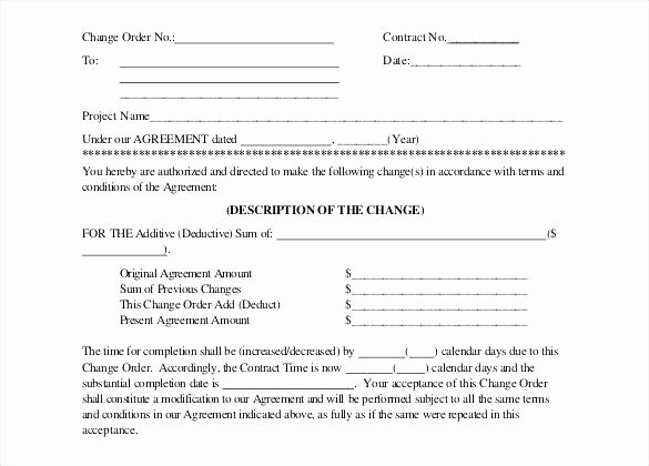 Change order Template for Construction Unique Letter Back Charge to Subcontractor Template Intent