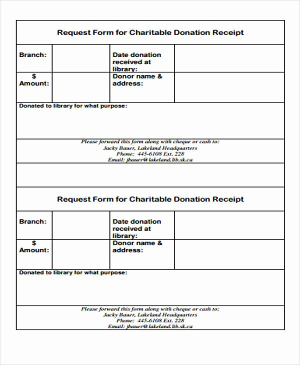 Charitable Contribution Receipt Template Beautiful 39 Free Receipt forms