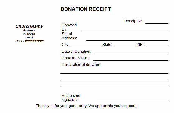 Charitable Contribution Receipt Template Beautiful 5 Charitable Donation Receipt Templates formats