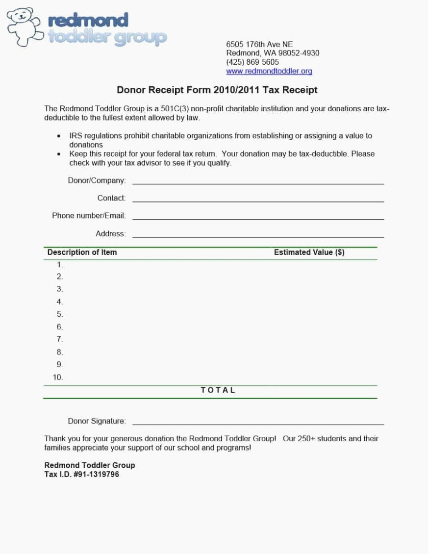 Charitable Contribution Receipt Template Beautiful How Charitable Donation form Template Can