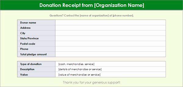 Charitable Contribution Receipt Template Best Of Charitable Donation Receipt Template 1