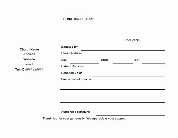Charitable Contribution Receipt Template Elegant 10 Donation Receipt Templates Doc Pdf