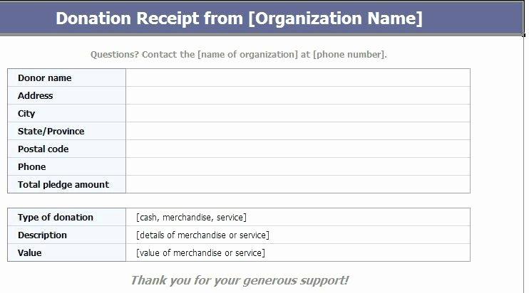 Charitable Contribution Receipt Template Lovely Charitable Contribution Receipt Template – Cafedesignfo
