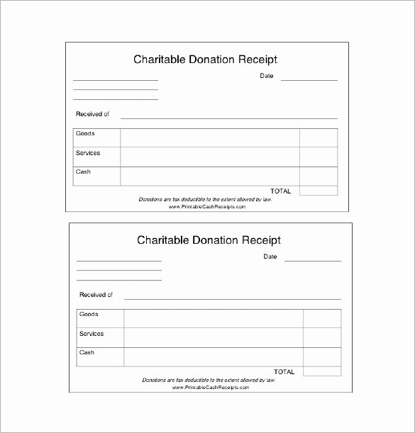 Charitable Contribution Receipt Template Luxury 18 Donation Receipt Templates Doc Pdf