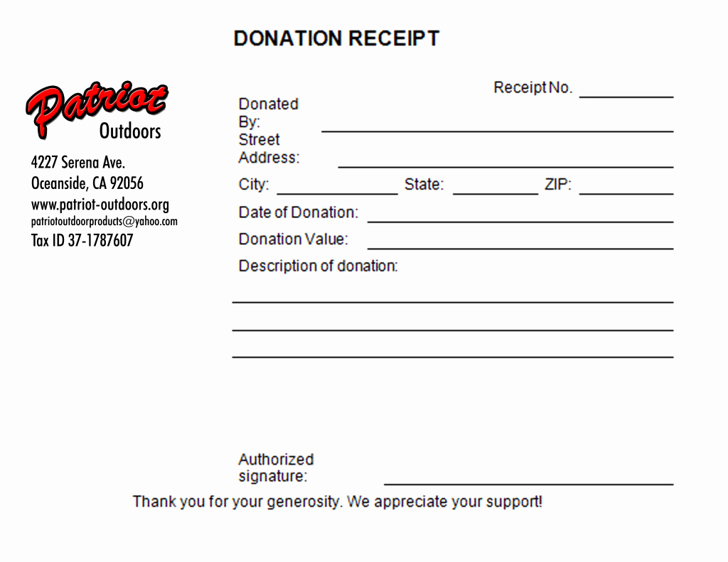 Charitable Contribution Receipt Template Luxury 5 Charitable Donation Receipt Templates formats