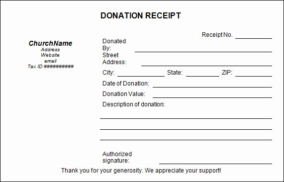 Charitable Contribution Receipt Template New 16 Donation Receipt Template Samples