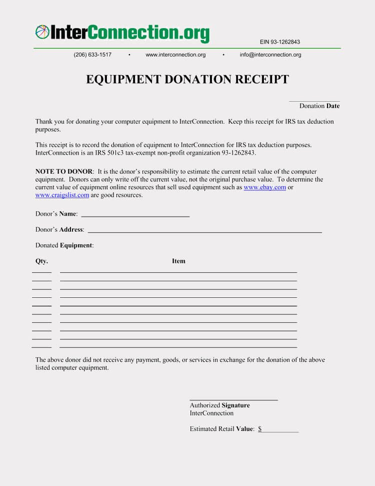 Charitable Contribution Receipt Template New 45 Free Donation Receipt Templates & formats Docx Pdf