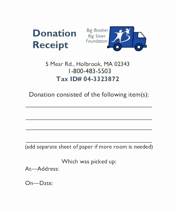 Charitable Contribution Receipt Template New Example A Charitable Donation Letter Template Charity