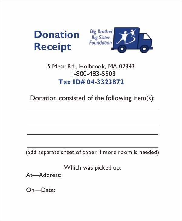 Charitable Contribution Receipt Template Unique 15 Receipt Templates