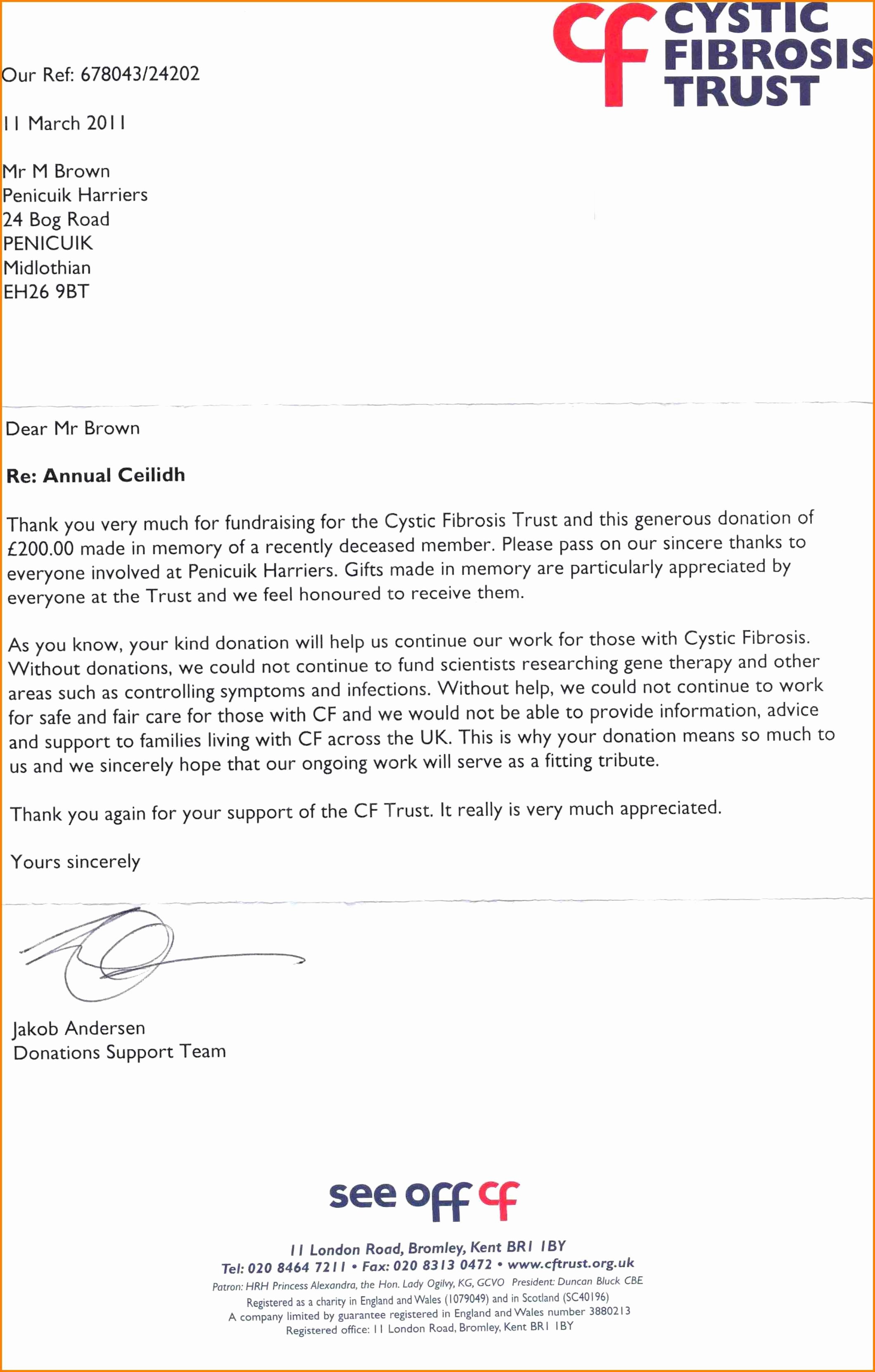 Charitable Donation Letter Template Awesome 9 Charitable Donation Letter