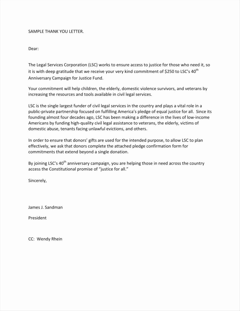 Charitable Donation Letter Template Inspirational 9 Donation Acknowledgment Letter Templates Free Word Pdf