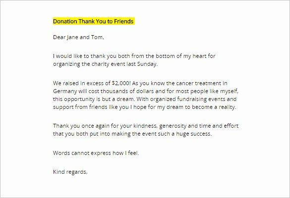 Charitable Donation Letter Template Lovely Charitable Donation Thank You Letter Template Templates