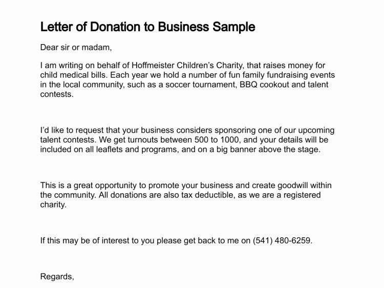 Charitable Donation Letter Template Lovely Letter Giving Donation Template Templates Resume