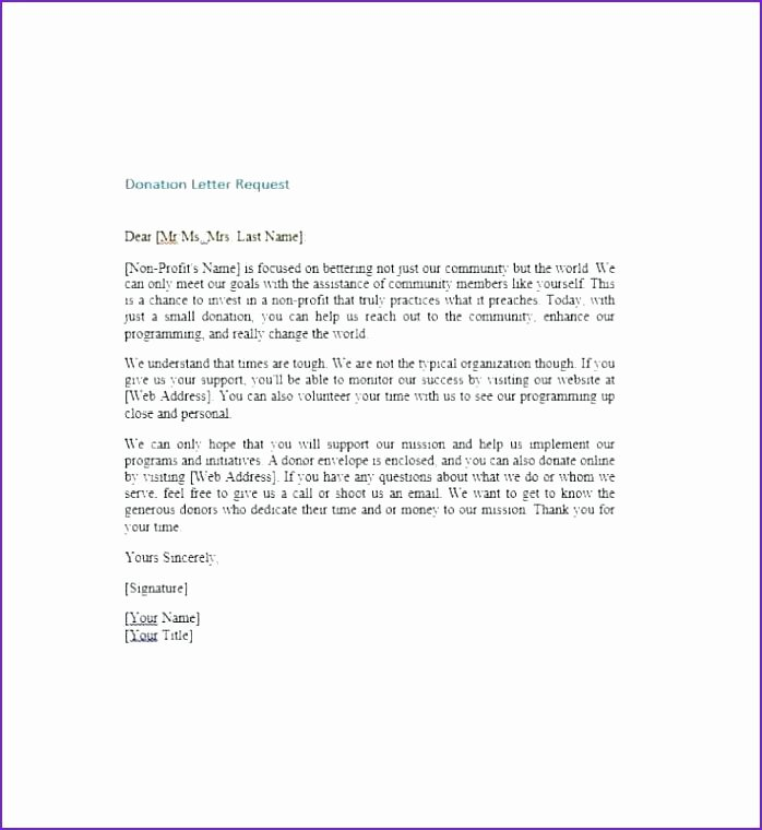 Charitable Donation Letter Template New Charity Letters for Donations Charitable Contribution