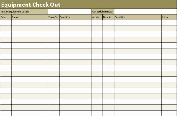 Check In Sheet Template Lovely Inventory Check Out Sheet Template