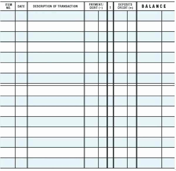 Check Register Template Printable Fresh Free Printable Checkbook Balance Sheet Register Sheets 5