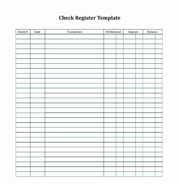 Check Register Template Printable New Printable Check Register Book Checkbook Sheets Balance