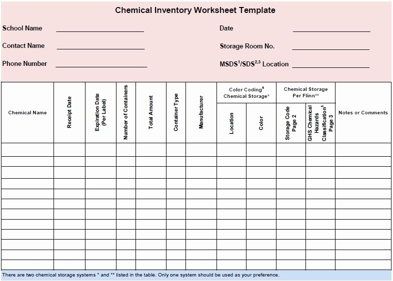 Chemical Inventory List Template Elegant 13 Free Sample Chemical Inventory List Templates