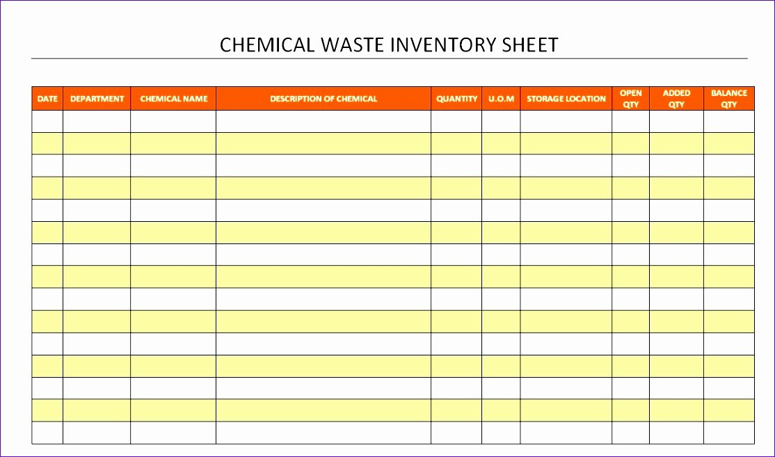 Chemical Inventory List Template Elegant Chemical Inventory Template Excel Gnxnw Unique Spreadsheet