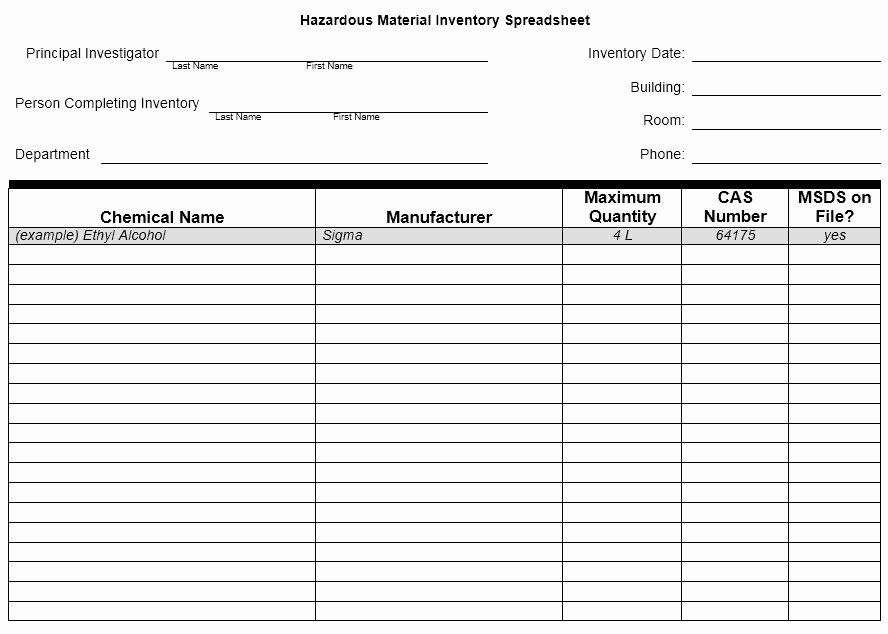 Chemical Inventory List Template Lovely 13 Free Sample Chemical Inventory List Templates