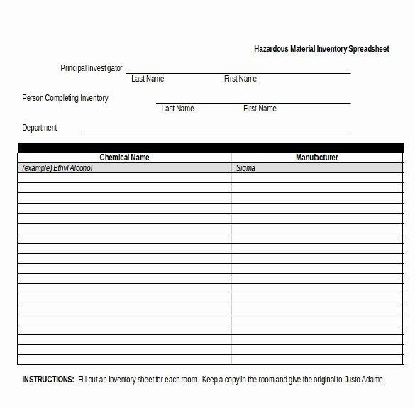 Chemical Inventory List Template Unique Chemical Inventory Template – 14 Free Word Excel