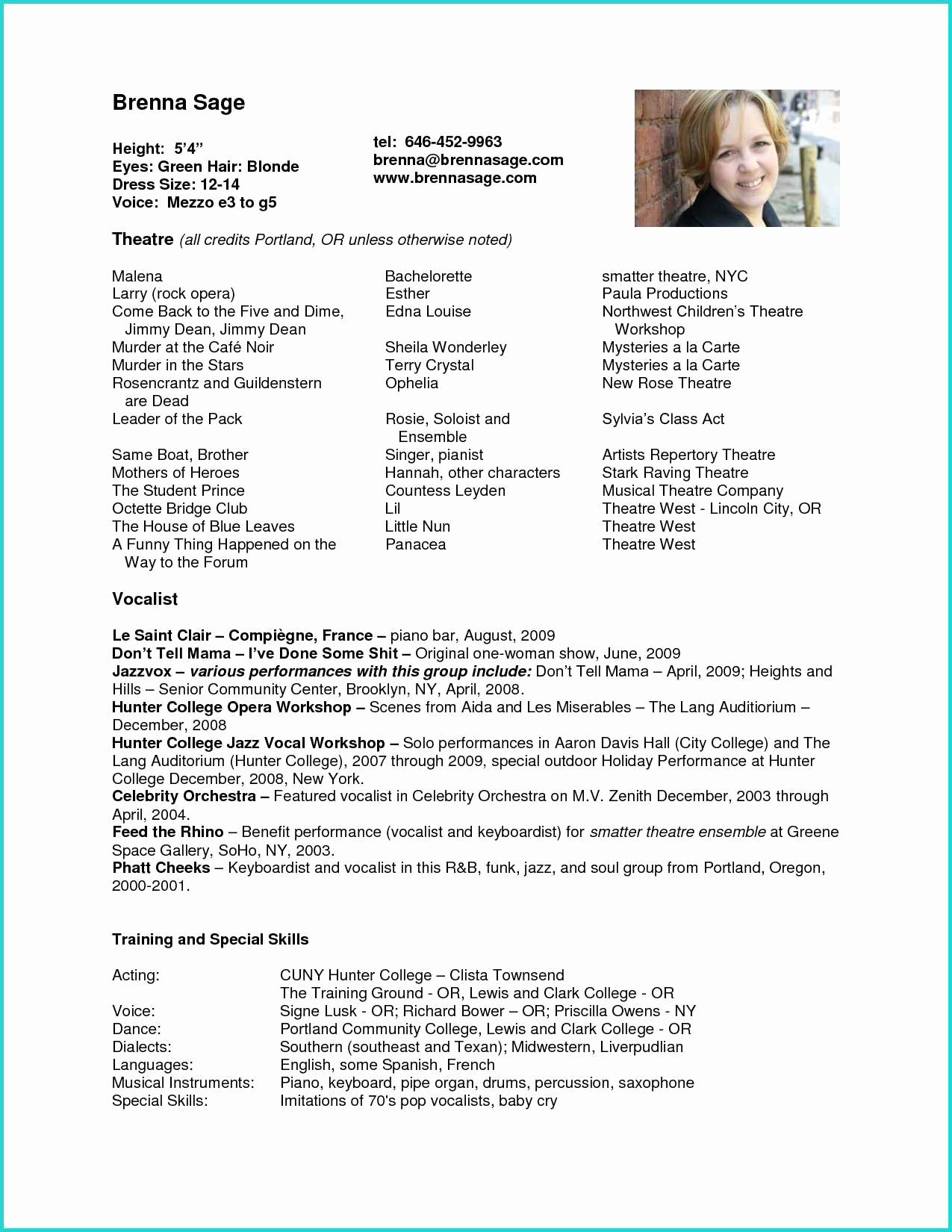 Child Actor Resume Template Inspirational Acting Resume Example for Beginners Best 28 Child