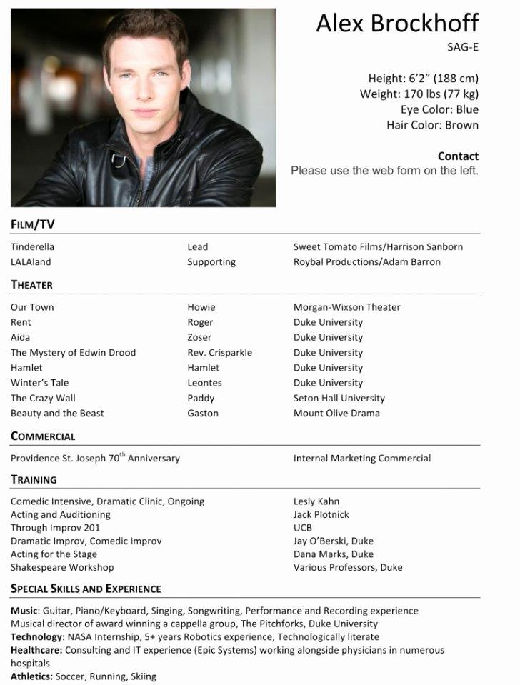 54 fabulous acting resume template