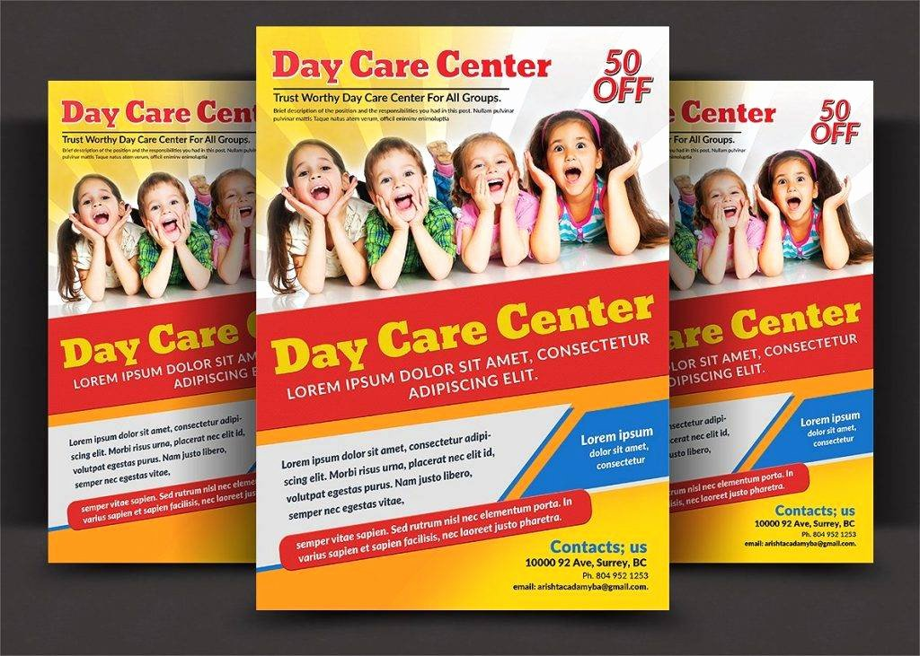 child care flyers