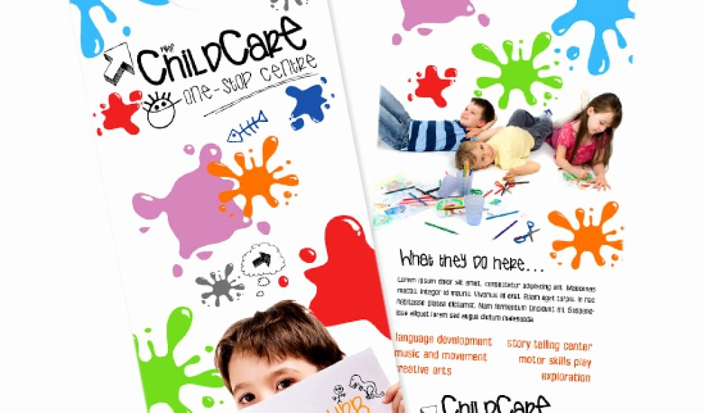 Child Care Flyer Template Awesome Child Care Brochure Templates Free Daycare Flyer Image May