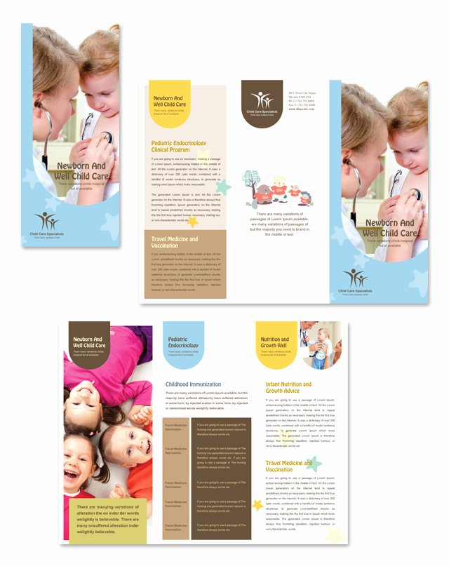Child Care Flyer Template Awesome Child Care Specialists Tri Fold Brochure Template