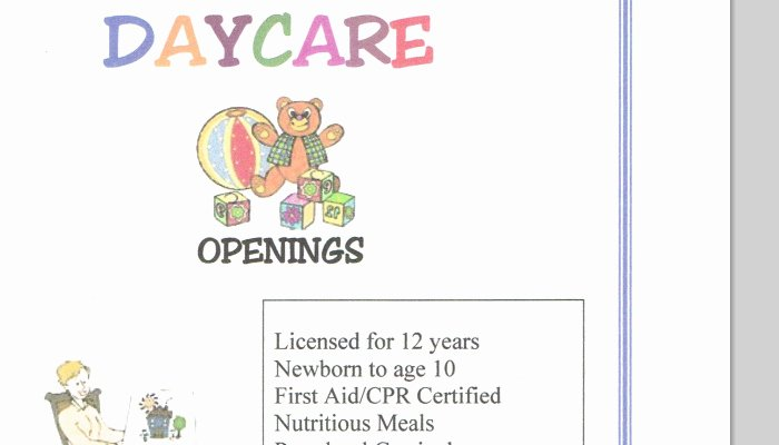 Child Care Flyer Template Beautiful Daycare Cliparts