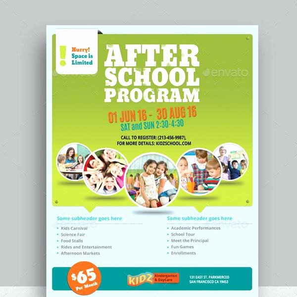 Child Care Flyer Template Best Of Daycare Flyer Templates Program Template Free Printabl On